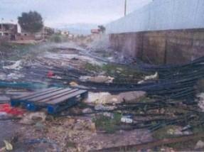 GTZ Wasser Rohre, bei Durres 1996