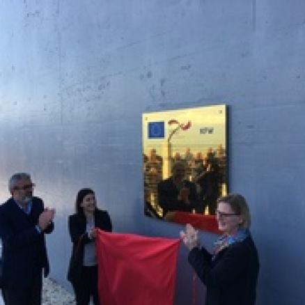 Sokol Dervishi, Susanne Schütz und das Betrugs KfW Projekt mit der Kanalisation, Ksmali Inseln in 2017