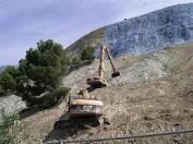Currila, Durres 2014: Strategisches Aufforstungs Projekt des Lefter Koka, Edi Rama, in den Lehmbergen von Durres