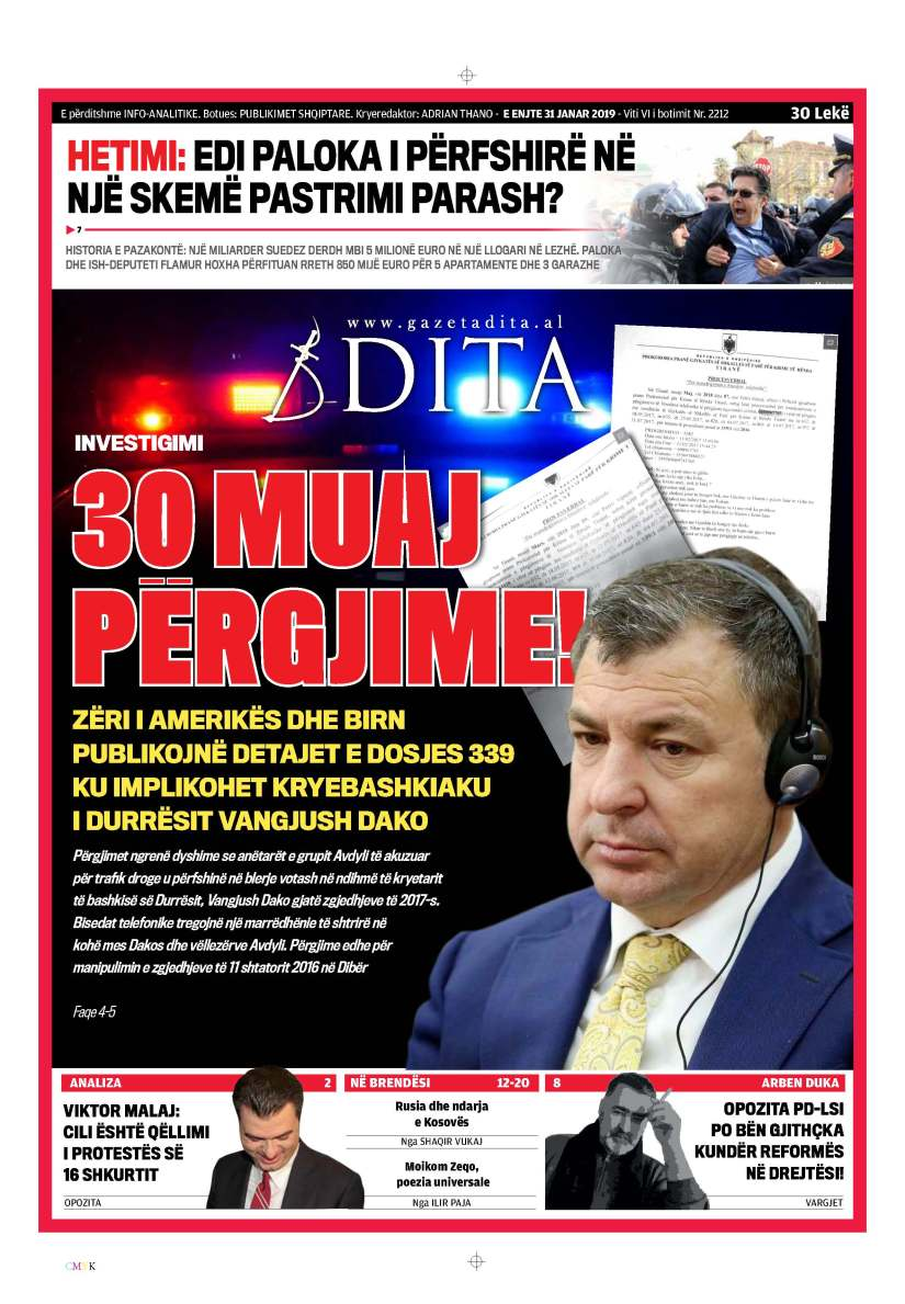 Das Wahlfälschungs System mit Vangjush Dako, der Mord und Drogen Mafia Gruppe:Aydilli