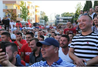 Wahlkamp in Shiak, PS: Admir Hoxha