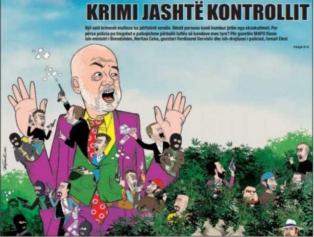 Artan Lame, über die Landräuber, Geldwäsche der Politik Drogen Clans inAlbanien